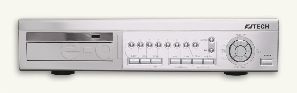 W Mega AVC715D - Rejestrator cyfrowy z nagrywarką DVD (8 kamer) (+ OA98
